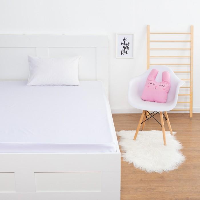 Простыня «Этель» цвет белый, 160х210 см, мако-сатин - фото 105556701