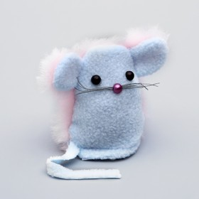 "Toy for Catnip ""Mouse-Eeyore"", Velcro, 8 x 7.5 x 1.5 cm"
