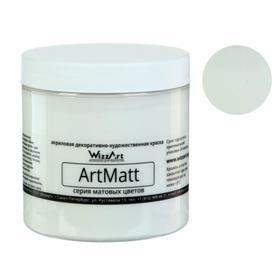 Краска акриловая Matt, 500 мл, WizzArt, белая матовая