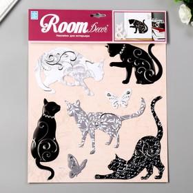 "Объёмные наклейки Room Decor ""Чёрно-белые кошечки"" 30х32 см"