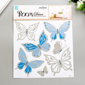 "Наклейки Room Decor ""Бабочки со стразами"" 25х25 см"