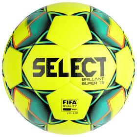 Мяч футбольный SELECT Brillant Super FIFA TB YELLOW, размер 5, FIFA, 32 панели, термосшивка, жёлтый