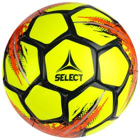 Мяч футбольный SELECT Classic, размер 4, 32 панели, ПВХ, машинная сшивка, жёлтый/красный/чёрный