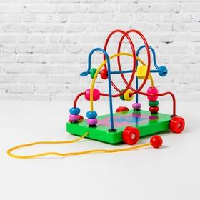 """Деревянная игрушка  Лабиринт-каталка """"Слоник"""", в ассортименте"""