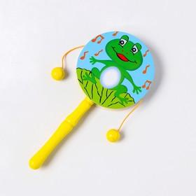 """Деревянная игрушка """"Бубенцы - лягушка """""""