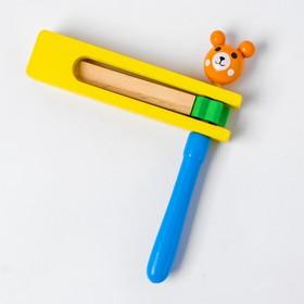 """Деревянная игрушка """"Трещотка- мишка"""", в ассорт. 85171"""