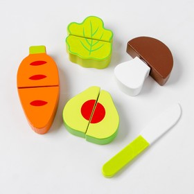 Деревянная игрушка - набор овощей для резки  70033