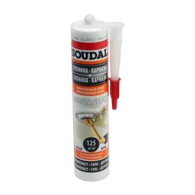 Монтажный клей Soudal Fix 120066, акриловый, белый, 280 мл, катридж