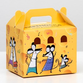 """Carrying a """"Dude"""" for birds and rodents, cardboard, cheese, small, 12.5 x 10 x 10cm"""