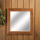 """Зеркало настенное """"Старина"""" для бани, 38×38 см"""
