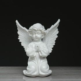 """Статуэтка """"Ангел с крыльями"""" большой, белый, 38 см"""