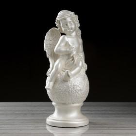 """Статуэтка """"Ангел на шаре"""", перламутровый, 44 см"""