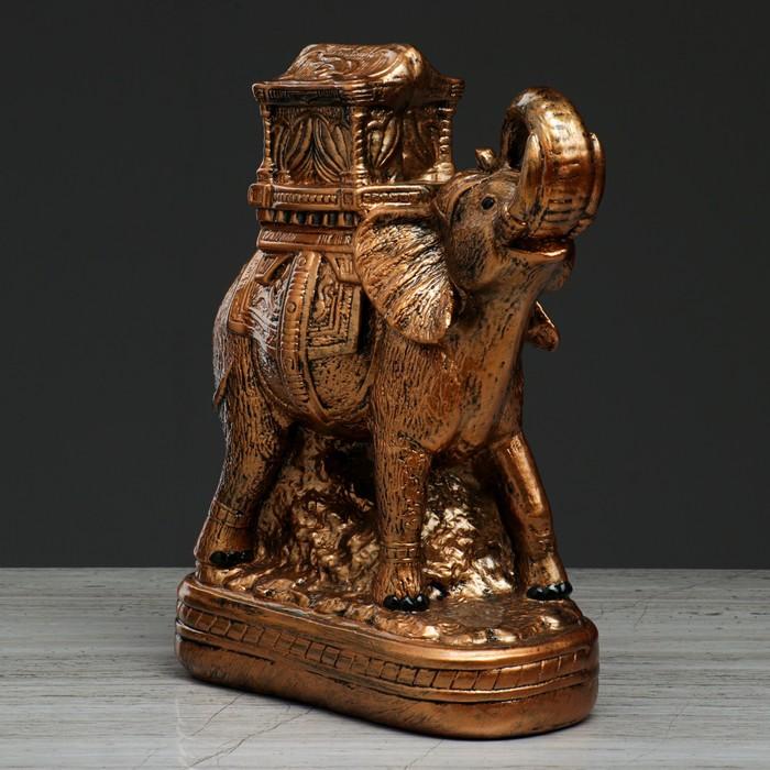 """Статуэтка """"Слон с седлом"""", бронзовый цвет, 28 см"""