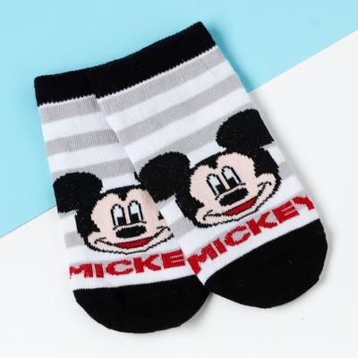 "Носки (следки) ""Mickey"", Микки Маус, серый, 16-18 см"