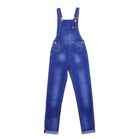 Комбинезон джинсовый для девочек, рост 140 см