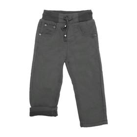 Джинсы для мальчиков, утеплённые, рост 92 см, цвет чёрный