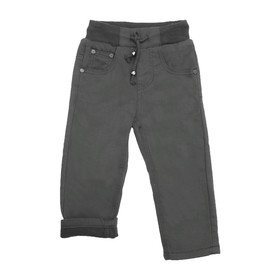 Джинсы для мальчиков, утеплённые, рост 98 см, цвет чёрный