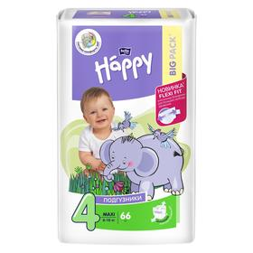 Подгузники Bella baby Happy Max (8-18 кг), 66 шт