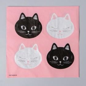 Салфетки бумажные «Котики», 33 см, 12 шт.