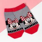 """Носки (следки) """"Minnie"""", Минни Маус, серый, 14-16 см - фото 76875226"""