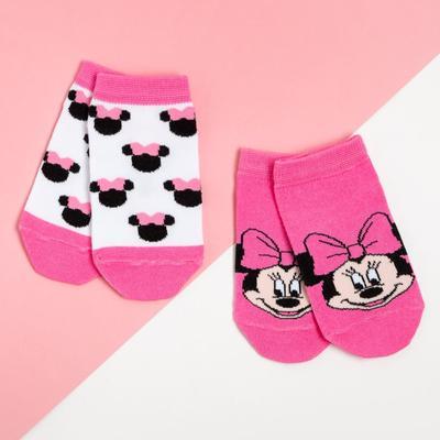 Набор носков, Минни Маус, 2 пары, розовый, 20-22 см