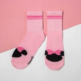 Носки , Минни Маус, розовый, 14-16 см