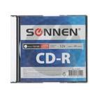 Диск CD-R SONNEN, 52x, 700 Мб, Slim Case, 1 шт