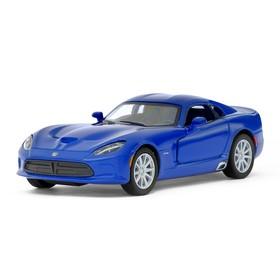 Машина металлическая SRT Viper GTS, 1:36, открываются двери, инерция, цвет синий