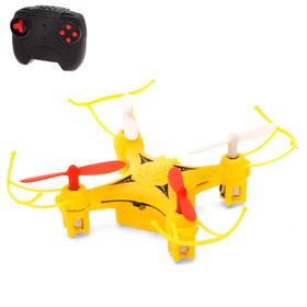 Квадрокоптер радиоуправляемый DH-Q2, работает от аккумулятора, цвет жёлтый