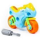 Конструктор-транспорт «Мотоцикл», 25 элементов (в пакете) - фото 106955883
