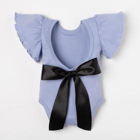 "Bodysuit Baby I ""Black bow"", R. 22, height 62-68"