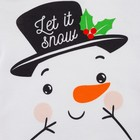 "Боди с дл. рукавом Крошка Я ""Снеговик"", рост 86-92 см, белый - фото 105479895"