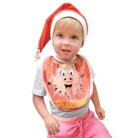 "Carnival bib ""Pig Happiness, velour, 1-3years"