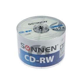 Диск CD-RW SONNEN, 4-12x, 700 Мб, спайка, 50 шт.