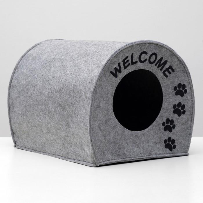 """Домик для животных из войлока """"Будка WELCOME"""", 33 х 33 х 45 см  - быстрая доставка"""
