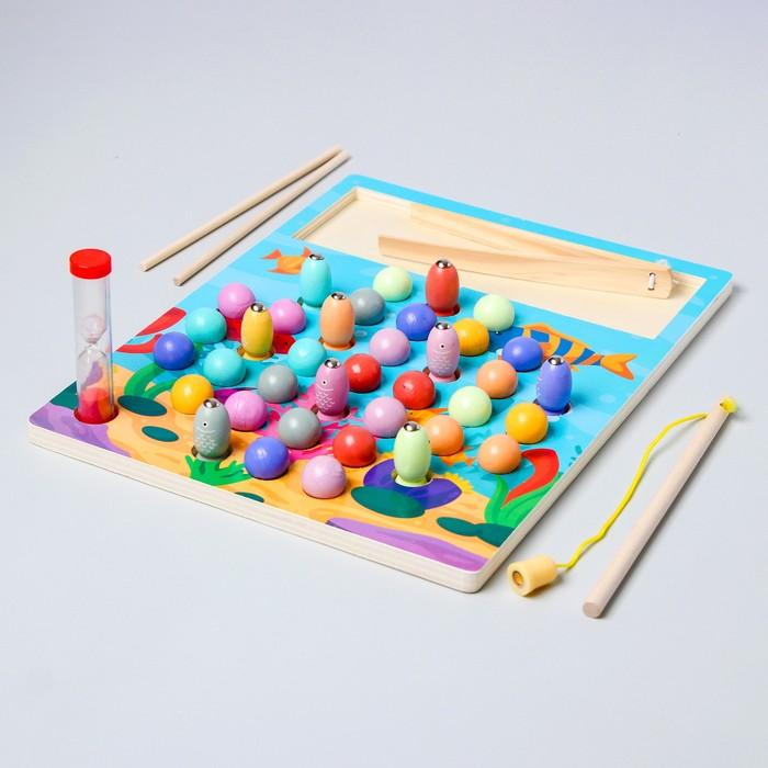 "Развивающий набор с шариками ""Рыбалка + шарики"" 3,5х30,5х23 см"