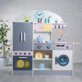 Игровой набор «Кухонный модуль «Счастье»» с деревянной посудой