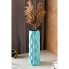 """Ваза напольная """"Поли"""" мятный цвет, глазурь, 41 см, 1 сорт, керамика - фото 842751"""