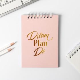 Блокнот Dream plan do, на гребне, А6, 40 листов