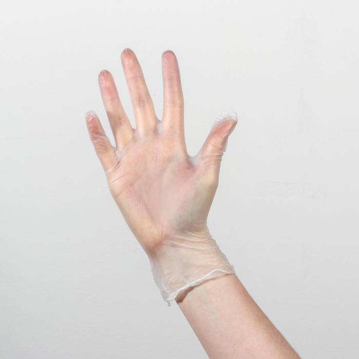 Перчатки виниловые неопудренные 5Assist Viny, размер S, 100 шт/уп, 4,1 гр.
