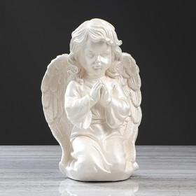 """Статуэтка """"Ангел Молящийся"""" большой, перламутровый, 33см"""