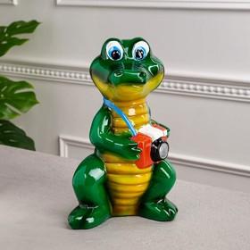 """Копилка """"Крокодил"""" глянец, 28 см"""