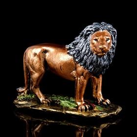 """Копилка """"Лев на подставке """", бронза, 26 см"""