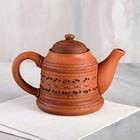 Чайник для заварки, красная глина, резка, 0.8 л - фото 788389