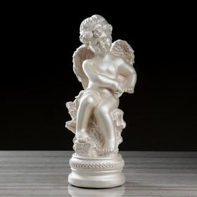 """Статуэтка """"Ангел на подставке"""", перламутровый, 44 см"""