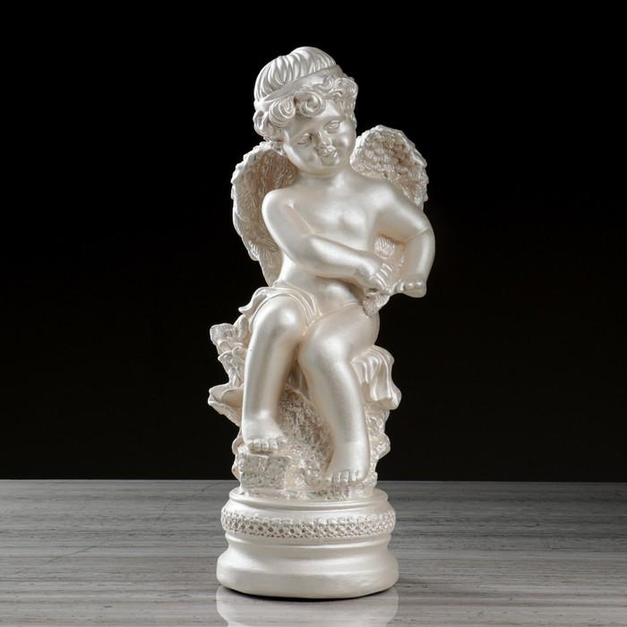 """Статуэтка """"Ангел на подставке"""", перламутровый, 44 см - фото 491599"""
