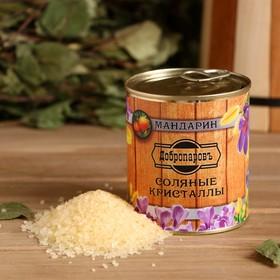 Соль для бани с ароматом мандарина в банке Ош