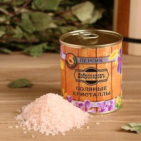 Соль для бани с ароматом персика в банке Ош