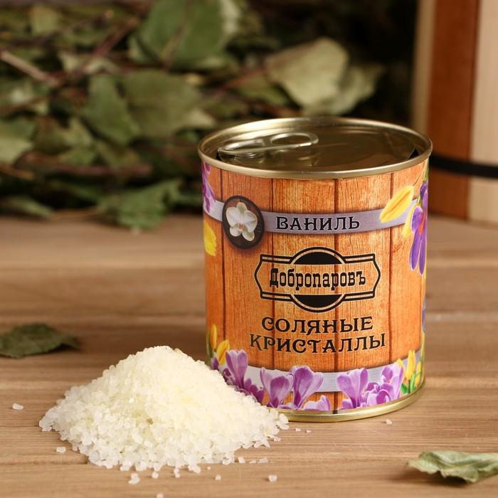 Соль для бани с ароматом ванили в банке - фото 1633838