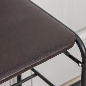 Подставка для обуви с сиденьем, 3 яруса, 65×32×48,5 см, цвет чёрный - фото 4643106